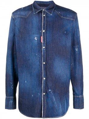Джинсовая рубашка с длинными рукавами Dsquared2. Цвет: синий