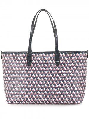 Маленькая сумка-тоут I Am A Plastic Bag Anya Hindmarch. Цвет: синий