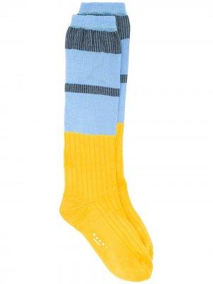 Носки в стиле колор-блок Marni. Цвет: синий