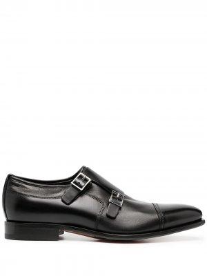 Туфли с пряжками Santoni. Цвет: черный