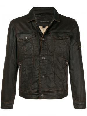 Fitted denim jacket John Varvatos. Цвет: коричневый