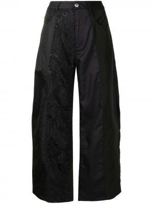 MarquesAlmeida брюки с завышенной талией и вышивкой Marques'Almeida. Цвет: черный
