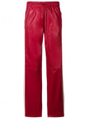 Брюки с полосками по бокам P.A.R.O.S.H.. Цвет: красный