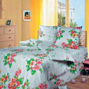Постельное белье Арт Постель. Цвет: белый, зеленый, розовый