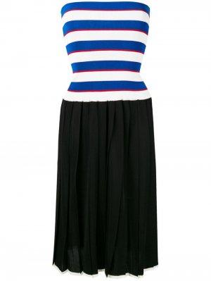 Трикотажное платье с плиссировкой Sonia Rykiel. Цвет: черный