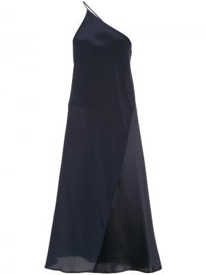 Платье миди на одно плечо Kacey Devlin. Цвет: синий