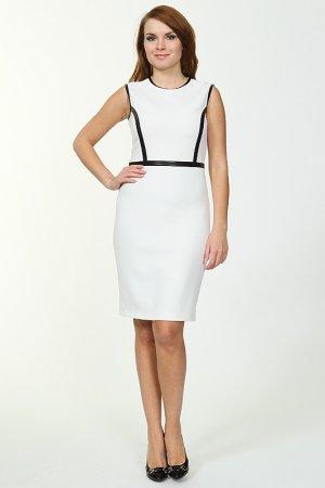 Платье TUZUN. Цвет: белый