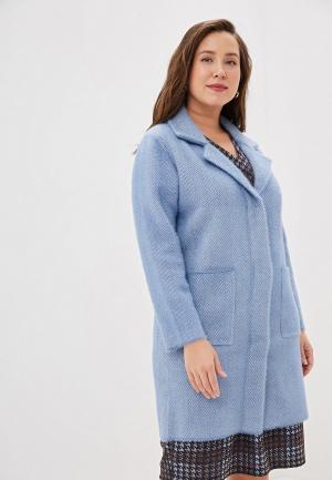 Пальто Winzor. Цвет: голубой