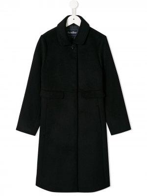 Классическое однобортное пальто Familiar. Цвет: синий