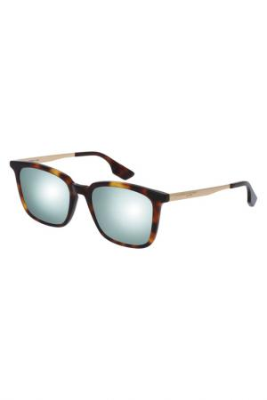 Солнцезащитные очки McQ Alexander McQueen. Цвет: коричневый