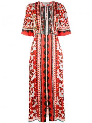 Mixed print dress Temperley London. Цвет: красный