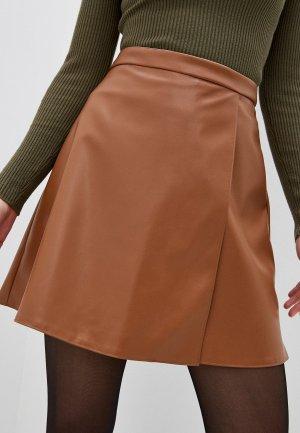 Юбка TrendyAngel. Цвет: коричневый
