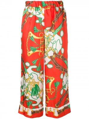 Укороченные брюки с принтом P.A.R.O.S.H.. Цвет: оранжевый