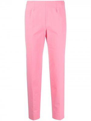 Укороченные брюки с разрезами Piazza Sempione. Цвет: розовый