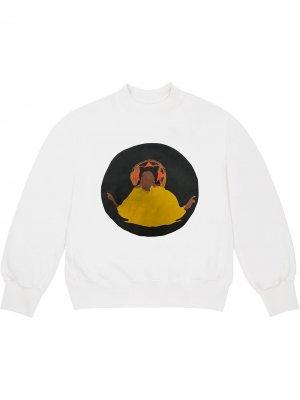 Толстовка Jesus Is King Chicago Kanye West. Цвет: белый