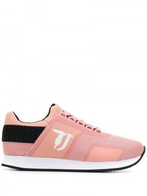 Кроссовки со вставками Trussardi Jeans. Цвет: розовый