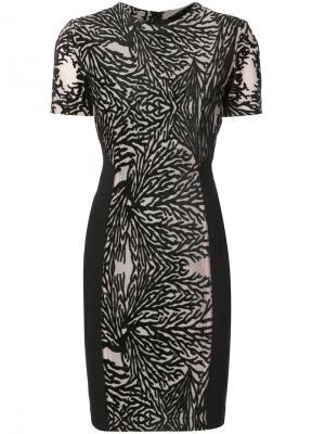 Платье с выжженным эффектом Yigal Azrouel. Цвет: черный