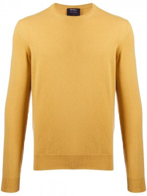 Delloglio кашемировый свитер с круглым вырезом Dell'oglio. Цвет: желтый