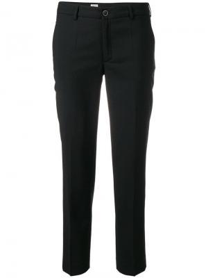 Classic cropped trousers Filippa-K. Цвет: черный