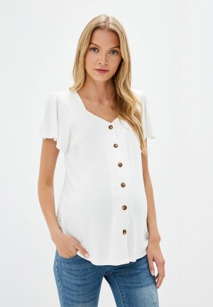 Блуза Dorothy Perkins Maternity. Цвет: белый