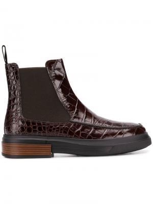 Ботинки с эластичными панелями Tod's. Цвет: коричневый