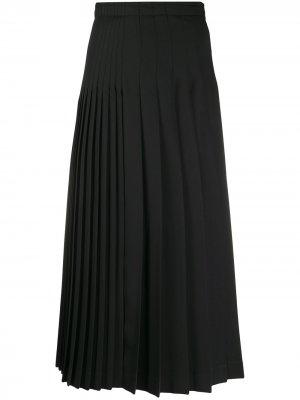 Плиссированная юбка с завышенной талией Ermanno Scervino. Цвет: черный