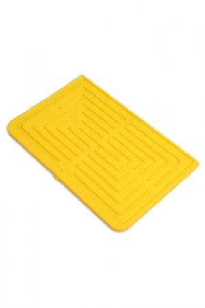 Универсальный коврик DOSH I HOME. Цвет: желтый