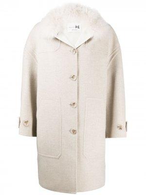 Однобортное пальто оверсайз Manzoni 24. Цвет: нейтральные цвета