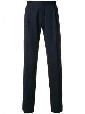 Прямые брюки Chalayan. Цвет: синий