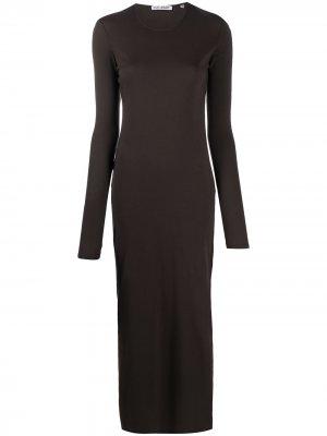 Приталенное платье макси с вырезами Our Legacy. Цвет: коричневый