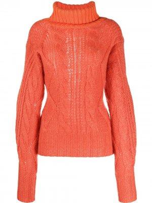 Джемпер фактурной вязки Aalto. Цвет: оранжевый