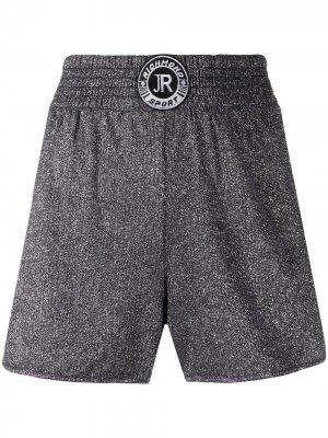Спортивные шорты с нашивкой-логотипом John Richmond. Цвет: серебристый