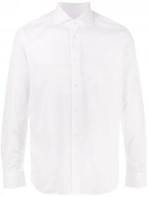 Рубашка на пуговицах Corneliani. Цвет: белый