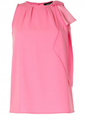 Блузка без рукавов с бантом Paule Ka. Цвет: розовый