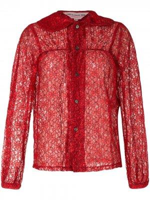 Кружевная рубашка на пуговицах Comme Des Garçons Girl. Цвет: красный