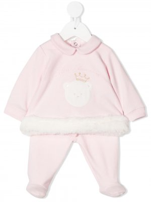 Комплект для новорожденного с пушистой вставкой Miss Blumarine. Цвет: розовый
