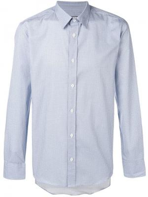 Mini check print shirt Paul & Joe. Цвет: синий
