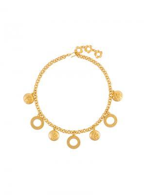 Ожерелье-цепочка с подвеской Kenzo Vintage. Цвет: желтый