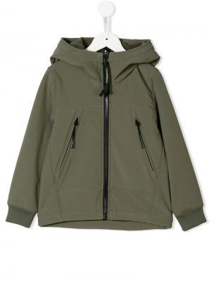 Mask hood jacket Cp Company Kids. Цвет: зеленый