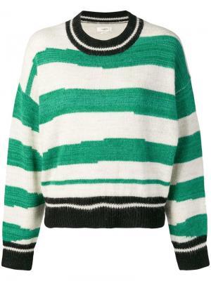 Striped jumper Isabel Marant Étoile. Цвет: зеленый