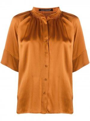Блузка с короткими рукавами Luisa Cerano. Цвет: коричневый