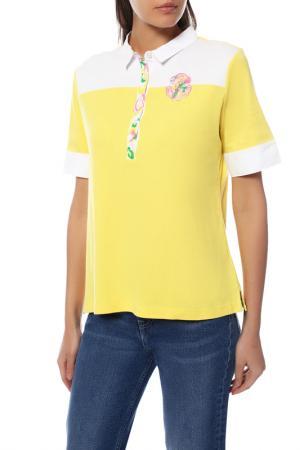 Рубашка-поло BOGNER. Цвет: желтый