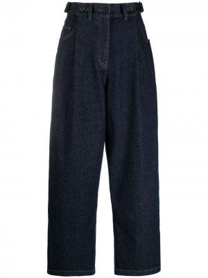 Прямые брюки с завышенной талией Juun.J. Цвет: синий