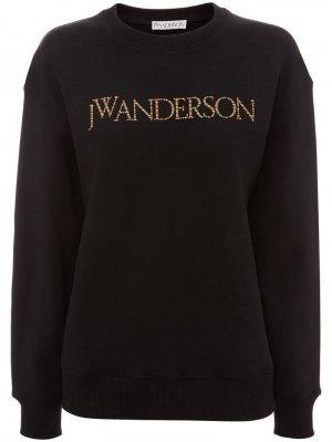 Толстовка с вышитым логотипом JW Anderson. Цвет: черный