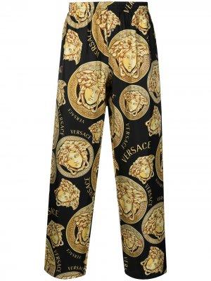 Пижамные брюки с принтом Medusa Versace. Цвет: черный