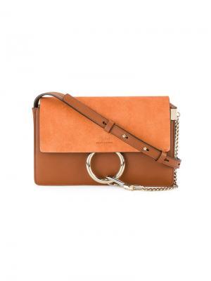 Маленькая сумка на плечо Faye Chloé. Цвет: желтый