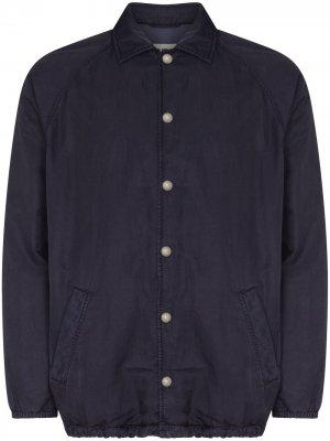 Легкая куртка Labour на пуговицах YMC. Цвет: синий
