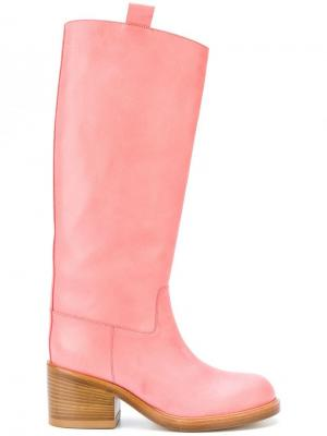 Сапоги по колено A.F.Vandevorst. Цвет: розовый
