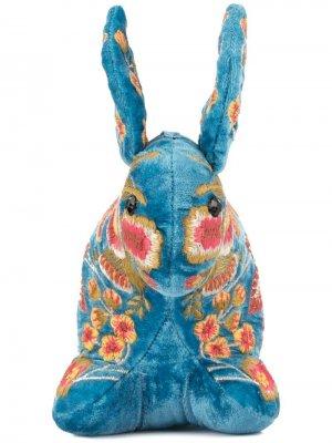 Мягкая игрушка в форме кролика с вышивкой Anke Drechsel. Цвет: синий
