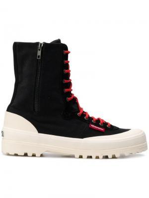 Ботинки на молнии Superga. Цвет: черный